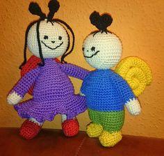 Bogyó és Babóca Balerina, Tweety, Minions, Free Crochet, Diy And Crafts, Berries, Crochet Patterns, Knitting, Toys