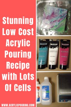 Low Cost Acrylic Pouring Recipe with Lots of Cells Discover some low-cost recipes in acrylic pouring on making cells. via some low-cost recipes in acrylic pouring on making cells. Flow Painting, Acrylic Painting Lessons, Pour Painting, Diy Painting, Painting Abstract, Knife Painting, Matte Painting, Painting Tutorials, Art Tutorials