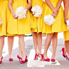Jeff + Janelle celebrate their real wedding with stylish yellow touches. Photographed by Amanda Wilcher Photographer.