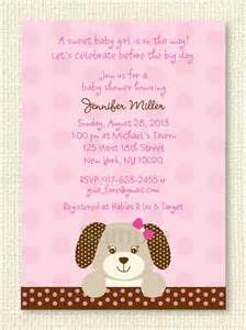 girl puppy baby shower