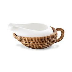 Molheira com suporte em rattan e ceramica12x10x4cm(k)