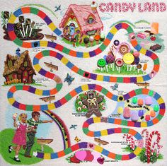 A fan of the Candyland board game decided to make her own real-life version of the game board, right in her garden. The Candyland garden was made by Kan-Dee Corner Classic Board Games, Vintage Board Games, Fun Board Games, Game Boards, Childhood Games, My Childhood Memories, Sweet Memories, School Memories, Early Childhood