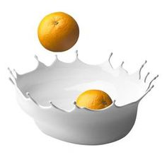 """Perfect as an entryway catch-all or holding fruit in the kitchen, this sculptural bowl showcases a splashed paint silhouette.     Product: Bowl   Construction Material: Silicone  Finish: Snow white   Features:  Designed by Niels Römer  Designed to serve fruit or bread in an innovative way or simply function as a decorative container  Unconventional shape originates from the image of a splash of paint frozen in time    Dimensions: 5"""" H x 11.5"""" Diameter"""