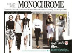 Mad For Monochrome in LOOK Magazine
