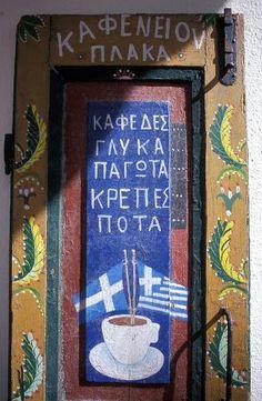 Doorway in Plaka, Athens Kan je ook een letter van uitzoeken; Go Greek, Greek Life, Greek Flag, Zorba The Greek, Greek Decor, Greek Isles, Athens Greece, Painted Doors, Doorway