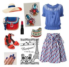 """Red, blue and white"" by gloria-yi-qiao on Polyvore featuring Marc Jacobs, Tory Burch, Alexander Wang, Eugenia Kim, DANNIJO, Smashbox and Mishky"