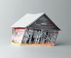 Models of Broken Houses and Destroyed Buildings by Ofra Lapid