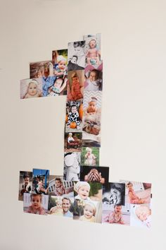 DIY birthday photo collage