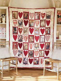 Dear Hearts Quilt-Uses 25 Picture Blocks and Heart Blocks