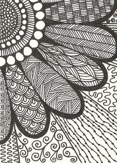 20 + most popular ways to art designs patterns doodles 88 zentangle drawings, doodle drawings Sharpie Drawings, Zentangle Drawings, Sharpie Art, Doodles Zentangles, Doodle Drawings, Easy Drawings, Doodling Art, Sharpie Doodles, Sharpie Projects