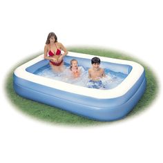 Piscine hors-sol gonflable Family INTEX rectangulaire, 1.75x2.62x0.56m