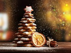 Homemade Gingerbread cookies Christmas Trees - Buy this stock photo and explore similar images at Adobe Stock Gingerbread Cookies, Christmas Cookies, Christmas Ornaments, Christmas Trees, Biscuits, Pastry Cake, Cannoli, Wine Recipes, Cooking Recipes