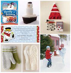 Snowman Making Party on the @FineStationery Blog #SeasonOfCelebrations