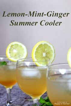 Lemon-Mint-Ginger Summer Cooler