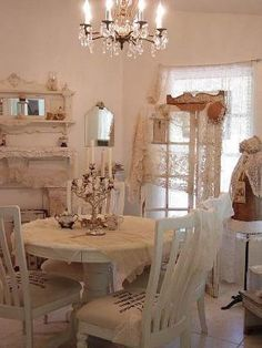 Shabby chic dining room by annabelle