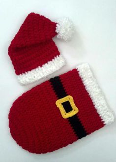 Crochet Baby Christmas Santa Set