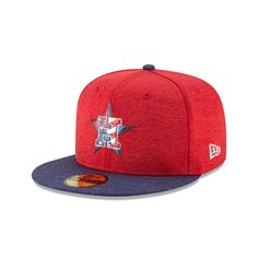 709e25312f6 New Era Men s Houston Astros Stars and Stripes 2T  17 59FIFTY Cap (Red