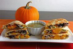 Pumpkin and Black Bean Quesadillas