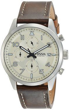 9f4d8c03707 Buy Fossil Chronograph Off-White Dial Men s Watch-FS5138I Online at Low  Prices in India - Amazon.in