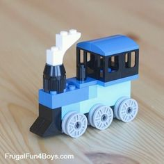 20 Simple Projects for Beginning LEGO Builders – Frugal Fun For Boys and Girls - Kid's Lego Duplo, Train Lego, Lego Trains, Lego Design, Lego Mecha, Lego Autos, Minecraft Lego, Lego Therapy, Kids Crafts