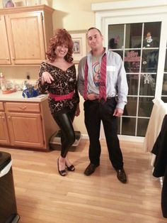Easiest Al and Peg Bundy costume... This website is the Pinterest of costumes