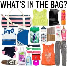"""What's In My Gym Bag"" by missbritain1259 on Polyvore"