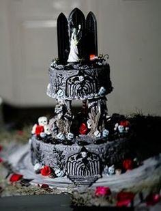 Gothic Wedding Cakes | Muito lindos! *-* Eu gamei no bolo do Jack esqueleto [ o primeiro bolo ...