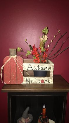 Primitive autumn crate box https://m.facebook.com/pages/The-Cozy-Country-Craft-House/575638289196544