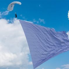 Bear Grylls Adventure profile a team of skydivers in Ohio, who have set a new world record for skydiving with the world's largest flag. The oversized flag measured 19,568sq ft and the jump was done to raise awareness of cancer. #outdoor #knives #camping #hunting
