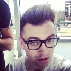 His hair is as tall as the heavens themselves. | 27 Reasons Sam Smith Is The Angelic Voice The World Needs Right Now