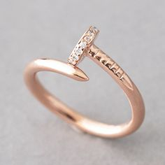 ROSE GOLD NAIL RING JEWELRY STERLING SILVER NAIL RING WRAP by kellinsilver.com