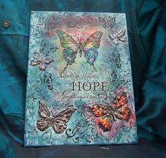 Mixed media canvas picture by MagdalenaMagic on Etsy