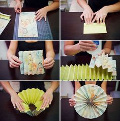 Handmade paper rosettes tutorial.  Perfect diy craft for holiday or party decoration.