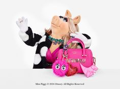 she's an international movie and television star, singer and best-selling author and, of course, an icon of fashion, feminism and diva-dom. she enjoys speaking frenglish (a delightful custom-blend of french & english) and practicing karate whenever the mood strikes. it's piggy. miss piggy.