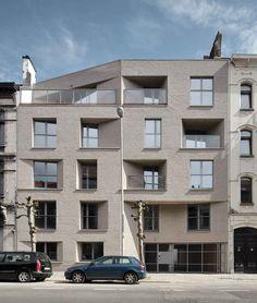 LOGEMENTS SLEECKX - bureau Urban Platform, Photo © Georges De Kinder #architecture #projet