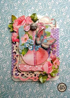 A beautiful Sweet Sentiments ATC from Maria #graphic45 #easter