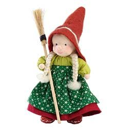 Little Witch 6-Inch Doll with Flexible Wire Body for Posing and Playing