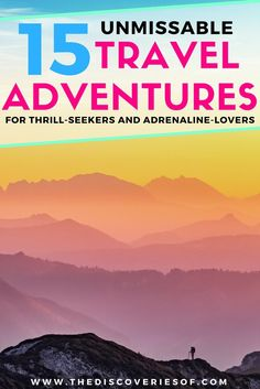 Adventure time! Love travel and adventure? These 15 bucket list ideas will set you up to explore the world in style. Outdoor adventures and destinations to fuel your wanderlust. Read the full guide now. #travel #adventure