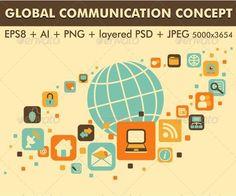Earth and Social, Media, Web Icons