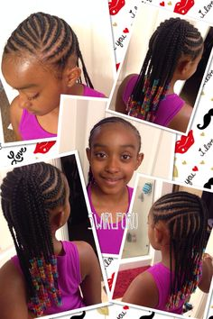 African braid photo for little girl - African Braids Hairstyles Childrens Hairstyles, Lil Girl Hairstyles, Natural Hairstyles For Kids, Kids Braided Hairstyles, African Braids Hairstyles, My Hairstyle, Natural Hair Styles, Short Hair Styles, Toddler Hairstyles