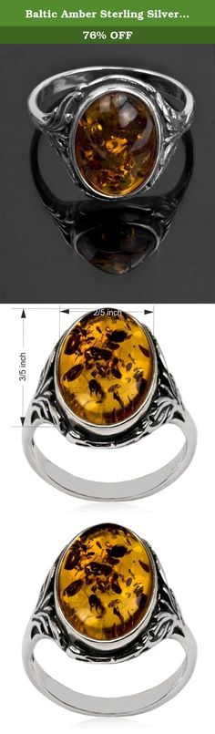 Baltic Amber Sterling Silver Oval Classic Ring 10x14mm Cabochon. Most of our amber found in Baltic sea area. Baltic sea considered to have biggest deposits of amber and quality of gemstone in this region is better than in any other location. Besides Baltic region there are large deposits of amber in Dominican republic, Columbia and Africa.