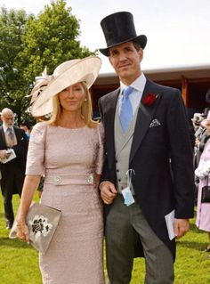 Princess Marie Chantal and Prince Pavlos at the Investec Derby Festival at Epsom Downs Racecourse on June 7, 2014