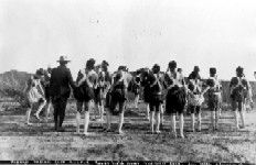 Papago Indian foot racers,  January 17, 1926. Western History Collections, University of Oklahoma Libraries, Irwin Brothers Studio Collection, Native American Photos
