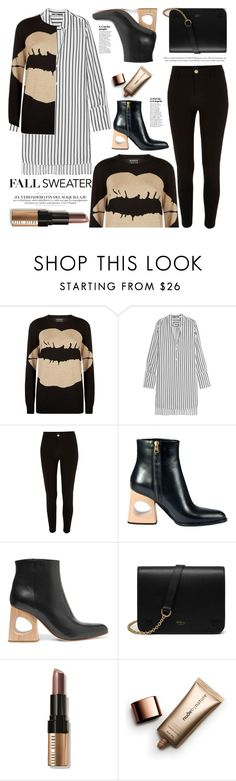 """""""Smacker Lip"""" by mood-chic ❤ liked on Polyvore featuring Markus Lupfer, McQ by Alexander McQueen, River Island, Marni, Mulberry, Bobbi Brown Cosmetics, Nude by Nature and fallsweaters"""