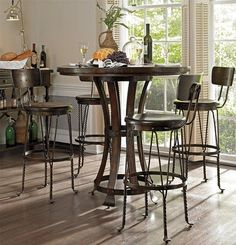 European Farmhouse Winemakers Pub 5 Piece Dining Set   Warm And Inviting,  The European Farmhouse Winemakers Pub 5 Piece Dining Set Provides A Cozy  Spot For ...