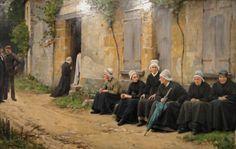 Um funeral em aldeia da Bretanha, 1891 Charles Sprague Pearce (EUA, 1851-1914) óleo sobre tela Danforth Art Museum, Massachusetts