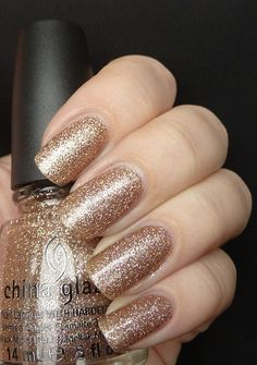 AllYouDesire: China Glaze Holiday Joy Collection Winter 2012 - Swatches and Review :: Champagne Kisses