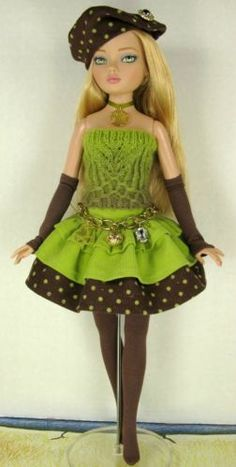 """Tonner,Wilde Imagination Ellowyne outfit """"Obviously Olive""""~by Janet"""