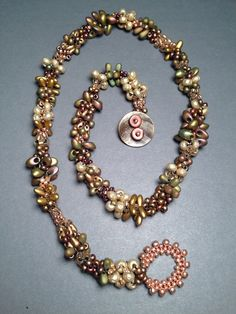 Fabulous!  A seed bead woven necklace by Beth Stone