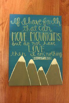 Painted Scripture Canvas by LaurenElizabethClark on Etsy, $12.00